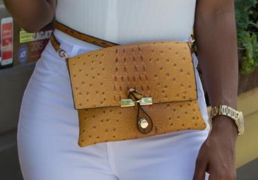 Ostrich Belt Bag