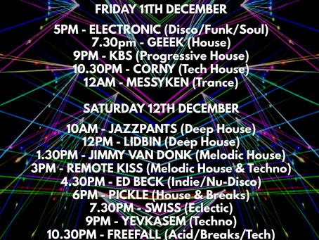 Virtual Festival X: 11th & 12th December 2020
