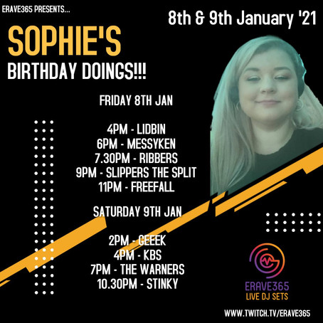 Sophie's Birthday Doings: 8th & 9th January