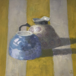 Two Cups, Yellow Stripes