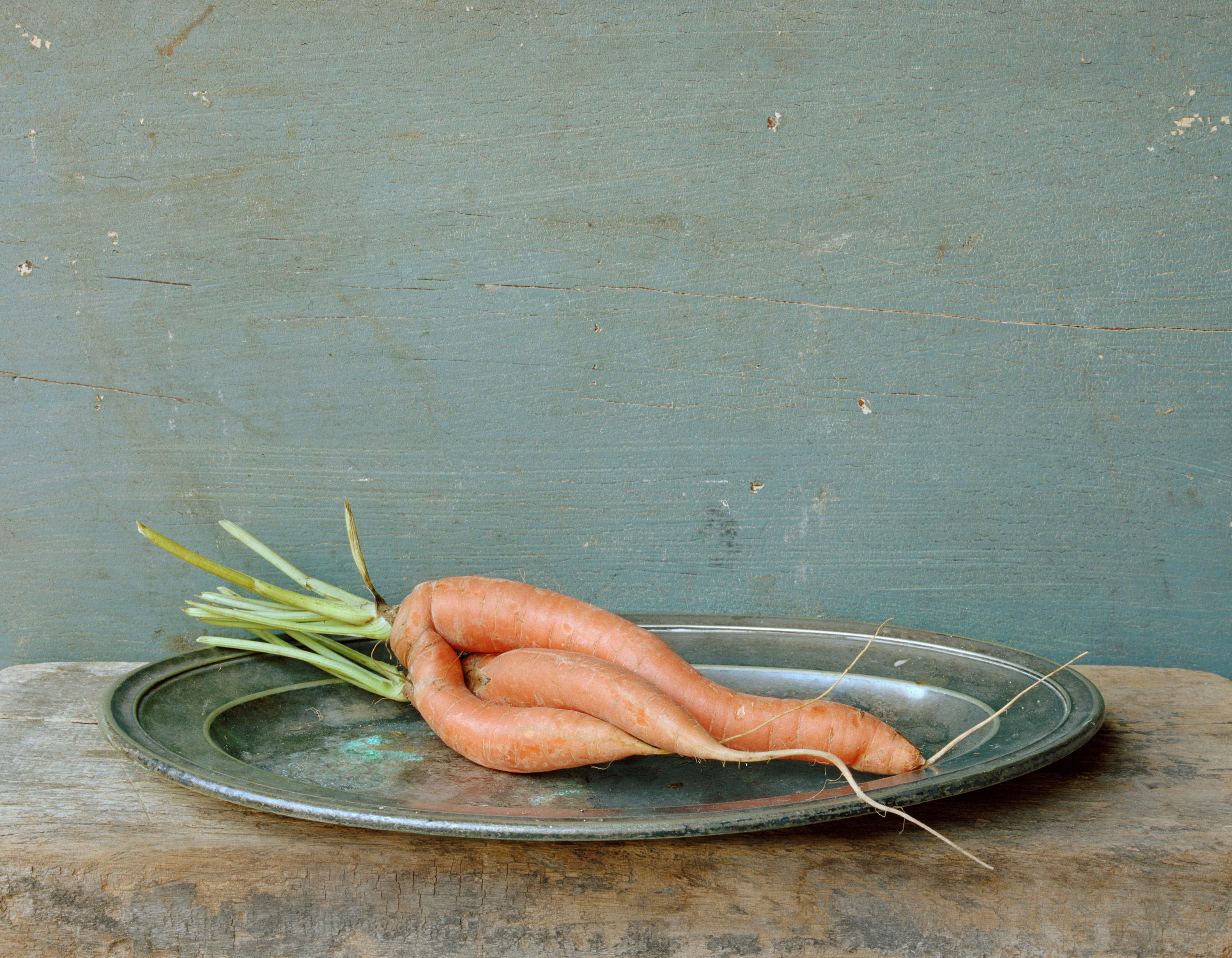 Carrots, entwined