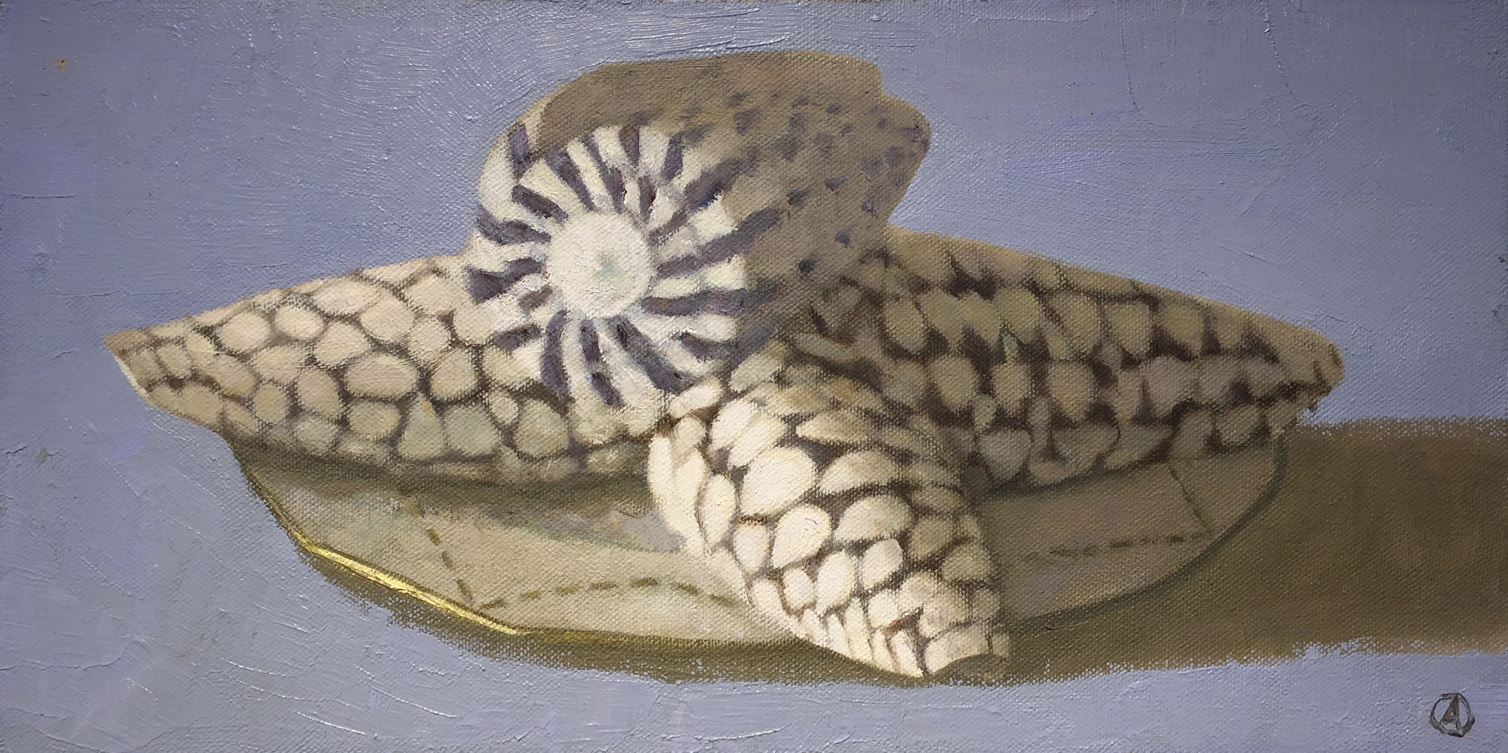 Four Shells on Blue