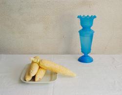 Corn  & Blue Vase