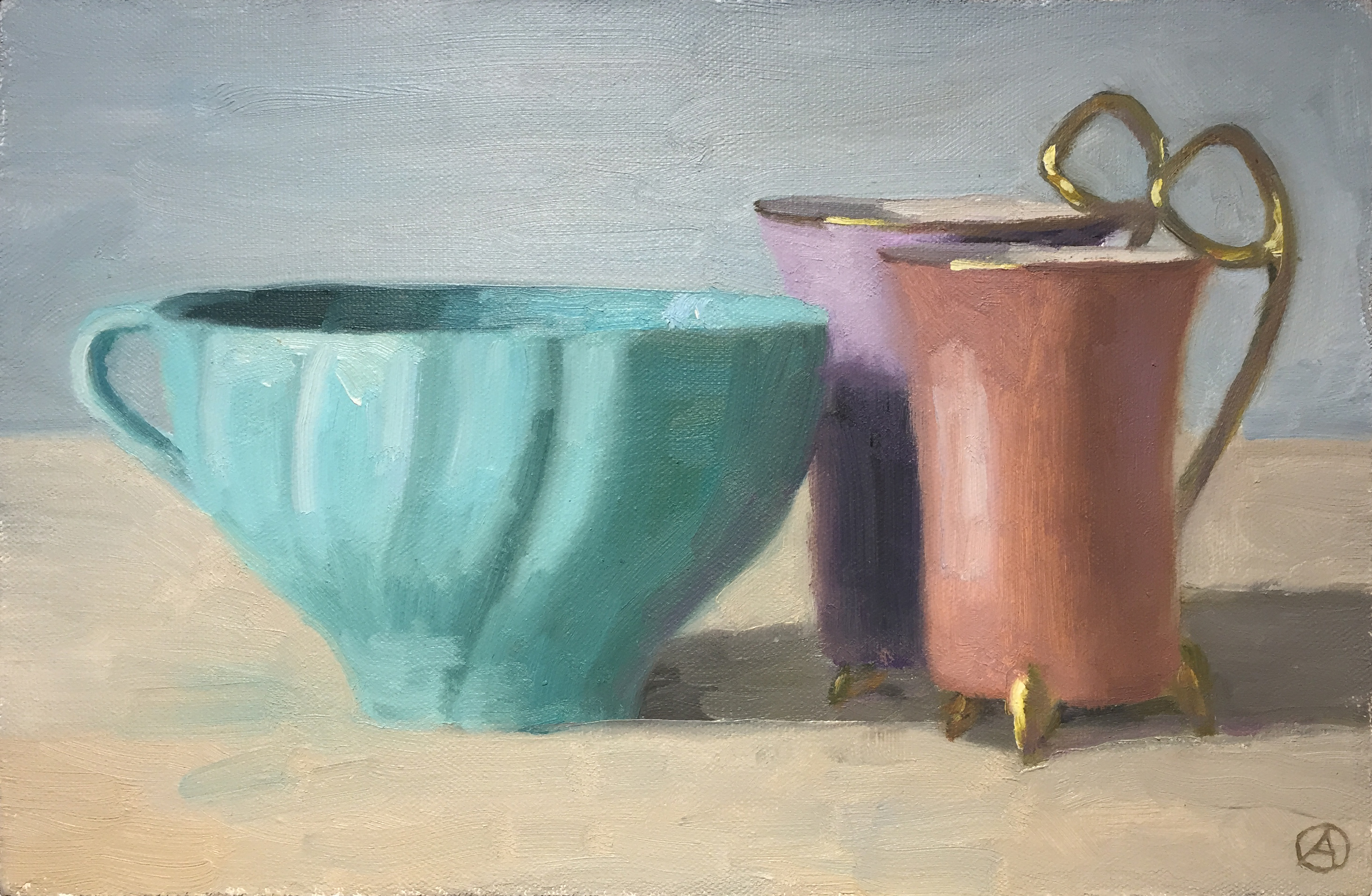 Turquoise, Pink, & Purple Cups