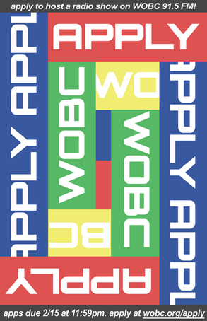 WOBC: Apply for a Radio Show Poster