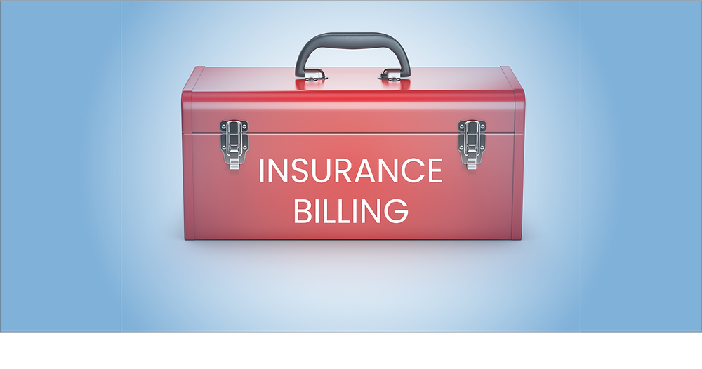 Toolbox with INSURANCE BILLING written on the outside