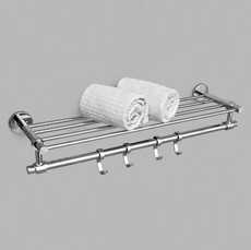 SS Towel Rack (SS 304 Bath Set) Model : DL-BS308 Finish : Chrome Plated
