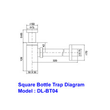 Square Brass Bottle Trap