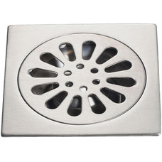 "Floor Drain (Sq. Flower Drain) Model : DL-FD232              DL-FD240  Size : (5"") (6"")"