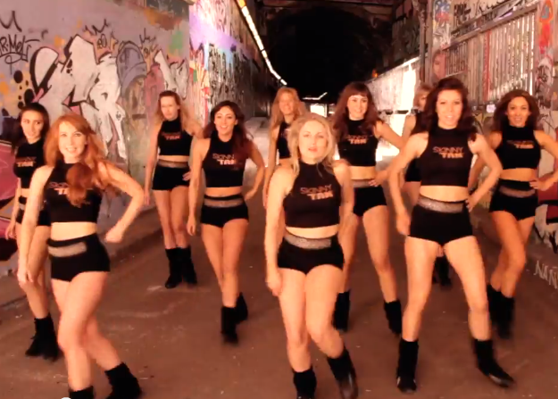 Dance Team for Skinny Tan Video