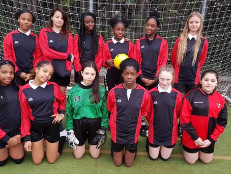 Junior girls football game V.s Heron Hall