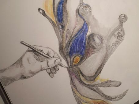 The joy a pencil can bring