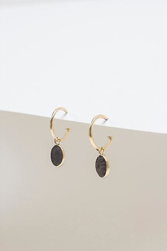 Arracada Black (Gold Plated Silver)