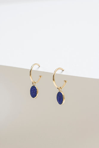 Arracada Blue (Gold Plated Silver)