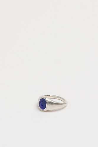 Oval Signet Blue (Silver)