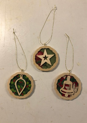 Fabric and Scroll work ornaments