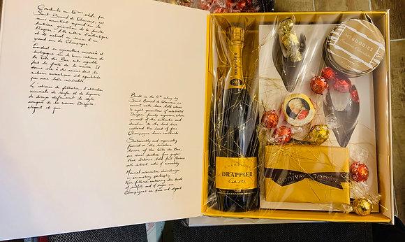 מארז יוקרתי שמפניה צרפתית דרפייה ושוקולדים