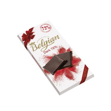 בלגיאן – שוקולד מריר 72% 100 גרם