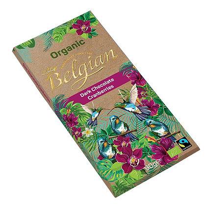 בלג'יאן -שוקולד מריר חמוציות אורגני