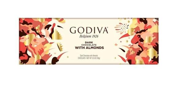 שוקולד גודייבה מריר שקדים 300 גר