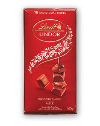 לינדור חפיסה שוקולד חלב