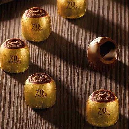 לינדט  1 קג. כדורי שוקולד אספרסו מריר 70%