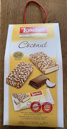 לואקר וופל במילוי שבבי קוקוס/שוקולד