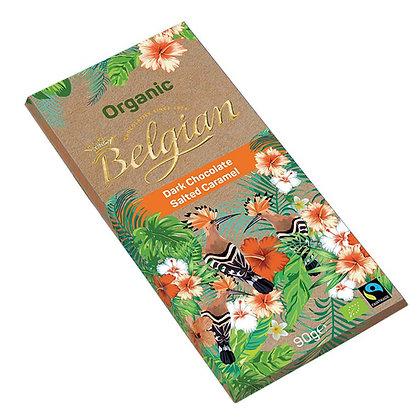 בלג'יאן -שוקולד מריר קרמל מלח אורגני