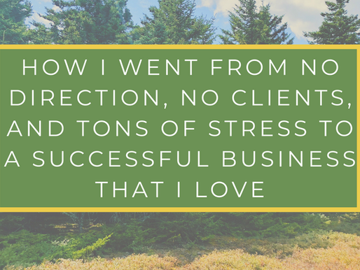 How I Went From No Direction, No Clients, and Tons of Stress To A Successful Business That I Love