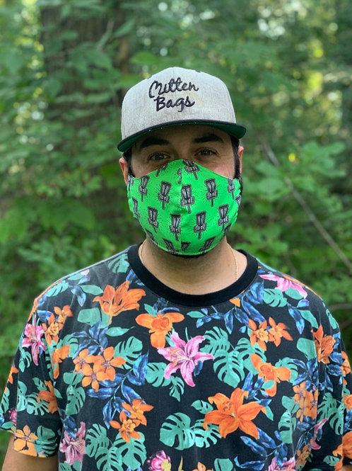 Green Disc Golf Mask