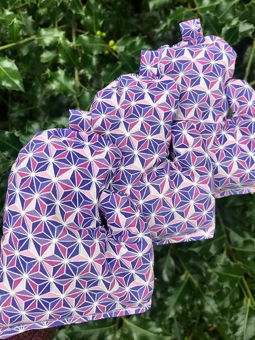 Purple Geometric Mitten Bag