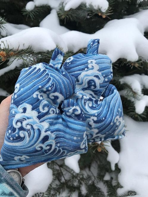 Blue Wave Mitten Bag