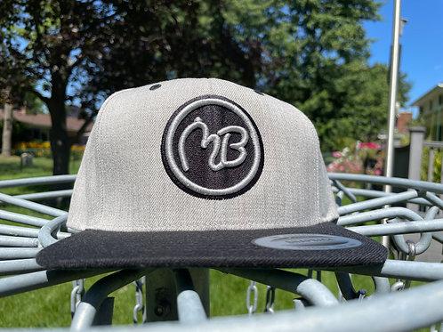 Black/Gray Snapback Hat