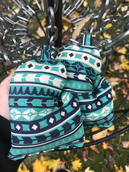 Blue Aztec Mitten Bag