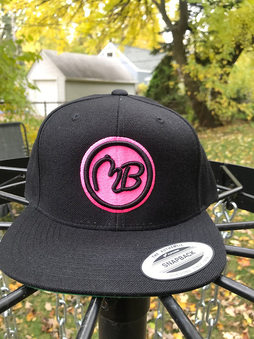 Black and Pink Snapback Hat