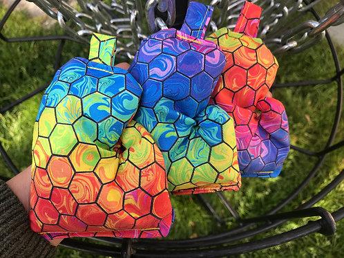 Colorful Hexagon Mitten Bag