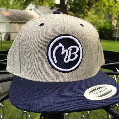 Navy/Gray Snapback Hat