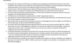 Covid 19 - Informations au personnel hospitalier 17 mars 2020.