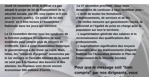 Mobilisation nationale du 17 décembre : La CFDT adresse un message au Président de la république.