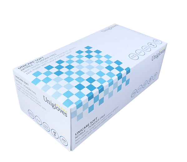 Unicare Soft Blue Nitrile Gloves