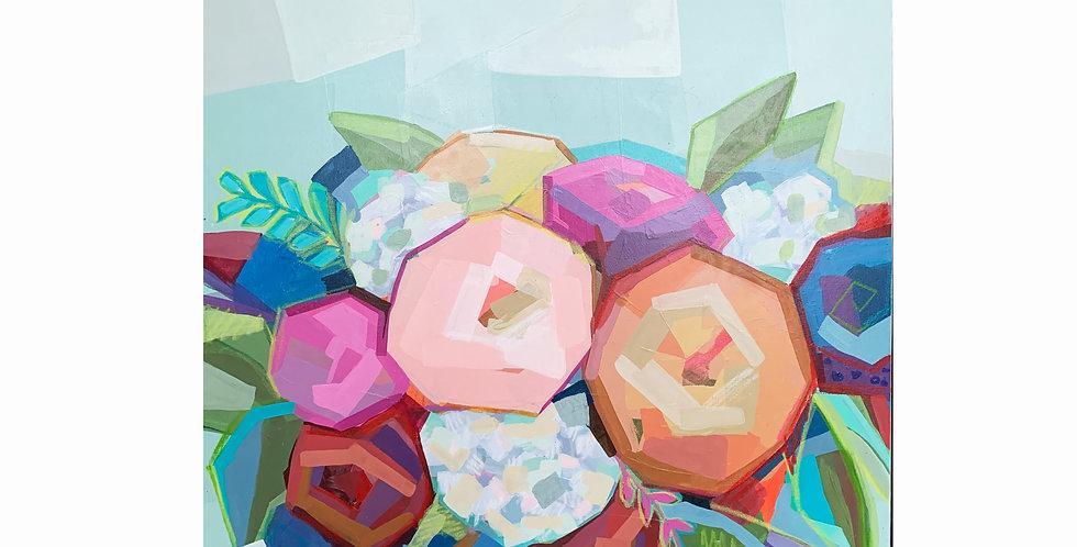 """""""Floral Bouquet"""" 48X 48"""""""