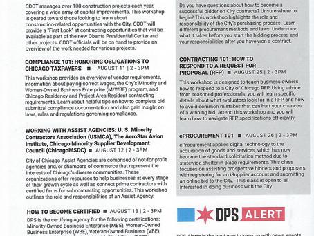 DPS August 2021 Workshop Schedule