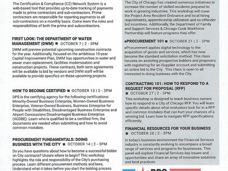 DPS October 2021 Workshop Schedule