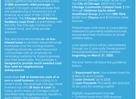 CHICAGO SMALL BUSINESS RESILIENCY FUND