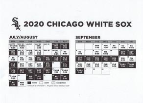 CHICAGO WHITE SOX 60 GAME SEASON SCHEDULE