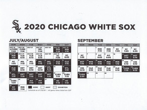 CHICAGO WHITE SOX 60 GAME SEASON SCHEDULE
