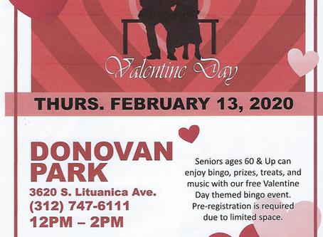 Seniors Valentine Bingo
