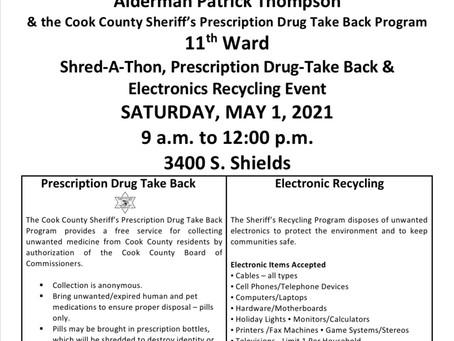 11th Ward Shred-A-Thon, Prescription Drug-Take Back & Electronics Recycling Event