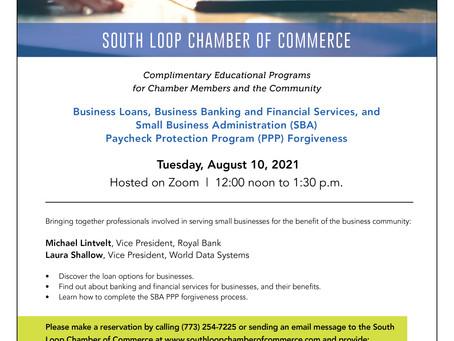 SLCC OFFERS FREE WEBINAR - August 10, 2021