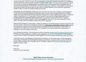 Information regarding the Anti-Retaliation Ordinance